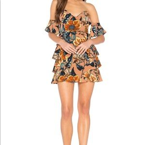 Nwt For love and lemons flamenco dress size small